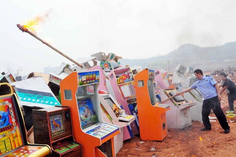 Why Video Game Gambling Machines Were Destroyed In China