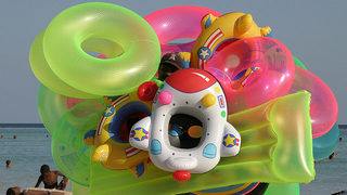 Deflate Pool Toys Faster with a Drinking Straw