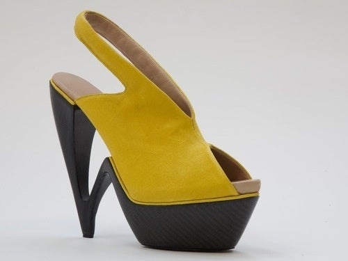 High-Heel-And-Toe In This Carbon Fiber Shoe
