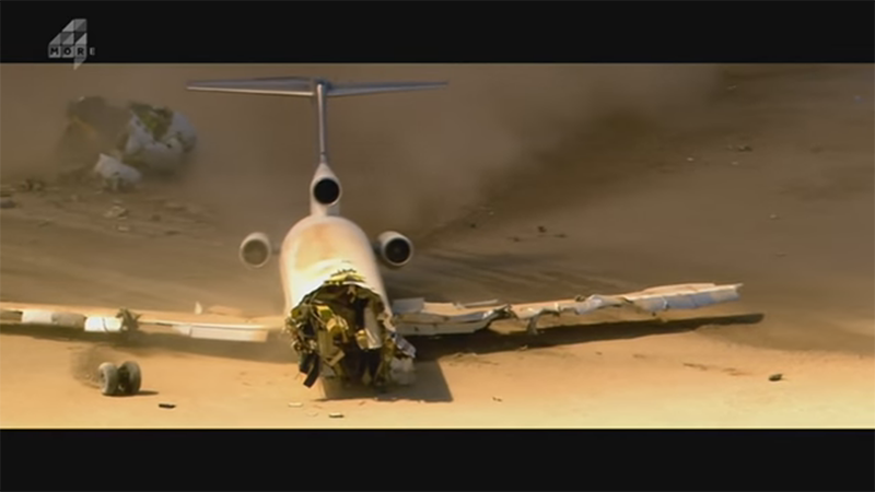 Watch What Actually Happens When A Plane Is Crashed On Purpose