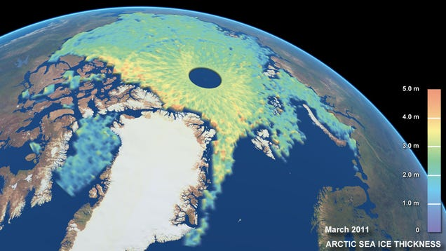 The Most Detailed Images of Polar Ice Cap Thickness Yet