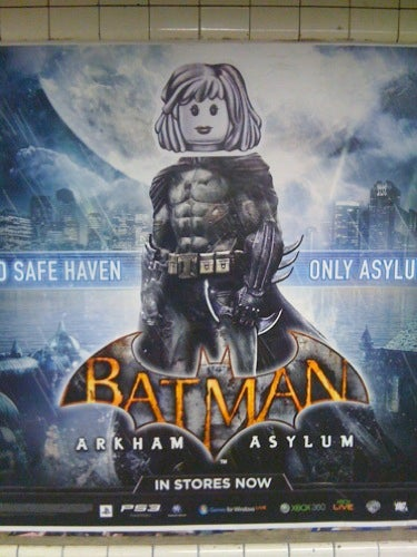 Batman Arkham Asylum Defaced With Lego (Wait A Minute...)
