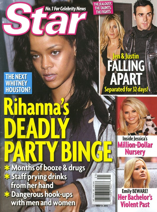 This Week in Tabloids: Rihanna Is Probably Drunk and High Right Now