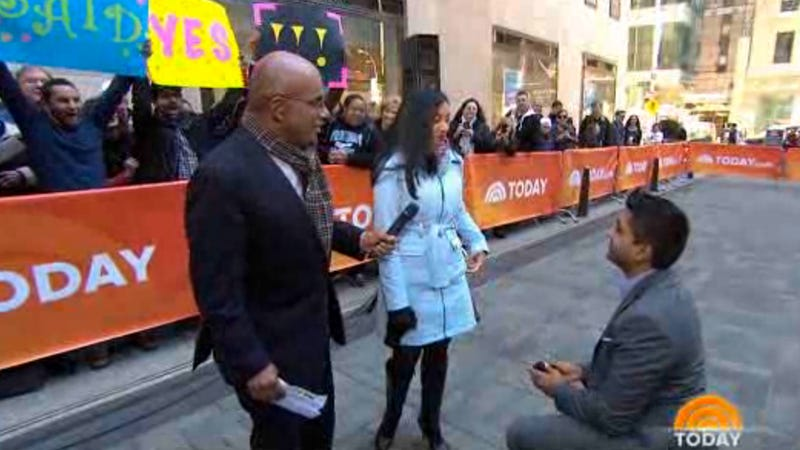Here's a Very Awkward Marriage Proposal That Happened Live on 'Today'