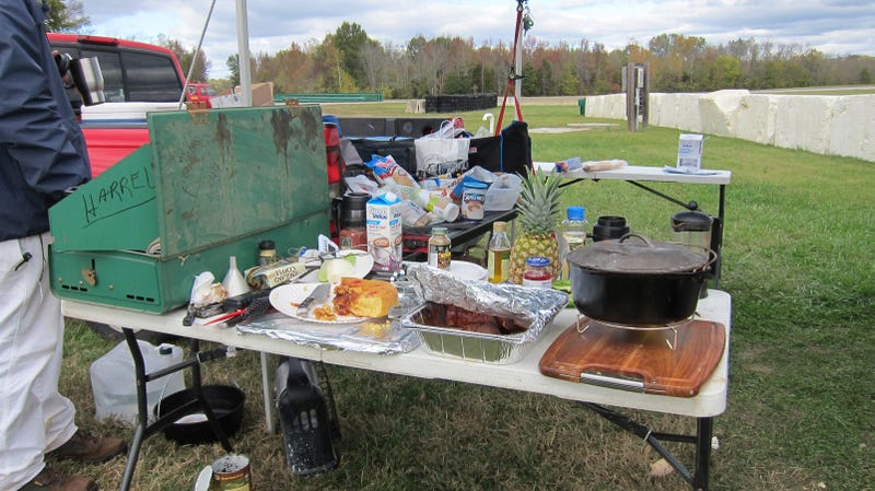 How to cook an entire Thanksgiving dinner on a race track
