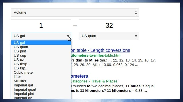 Google Unit Conversions Become an Interactive, No-Refresh Gadget