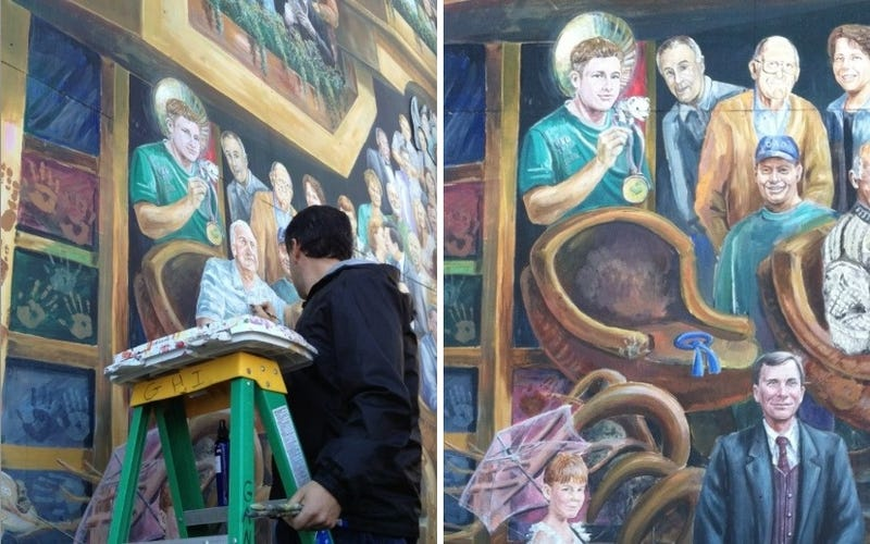 Jerry Sandusky Painted Out Of Memory On Downtown Mural; Paterno And Spanier Remain