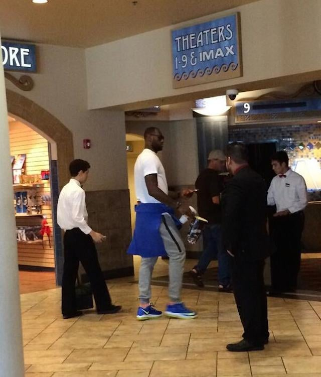 LeBron Went To The Movies By Himself
