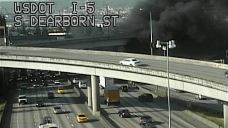 Weird Diesel Fire Turns Seattle Highway Into Blazing Hell River