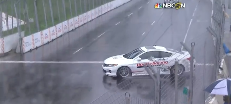 Pace Car Spinout Leads To Amazing Rob Ford Joke At Indy Toronto