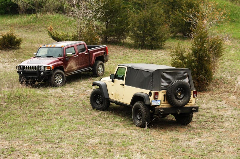 Choose Your Seven Slot Truck: Jeep J8 Or Hummer H3T?