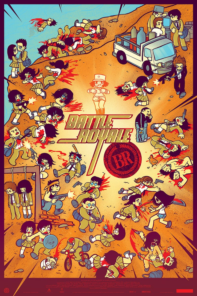 Scott Pilgrim artist kills all the kids in this Battle Royale poster