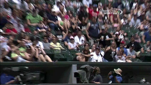 Hero White Sox Fan Snags Flying Bat, Saves Baby