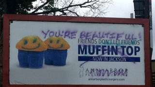 Vandals Trash Plastic Surgeon's Anti-Muffin Top Billboard in Michigan