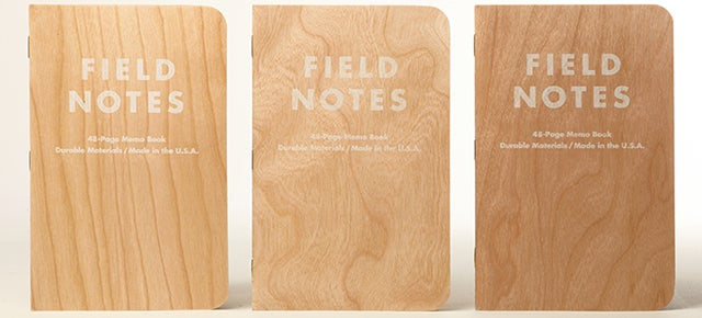 Real Wood Covers Make Every One of These Field Notes Notebooks Unique