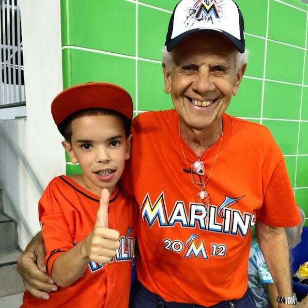 Young Marlins Fan Returns For His Second Dance