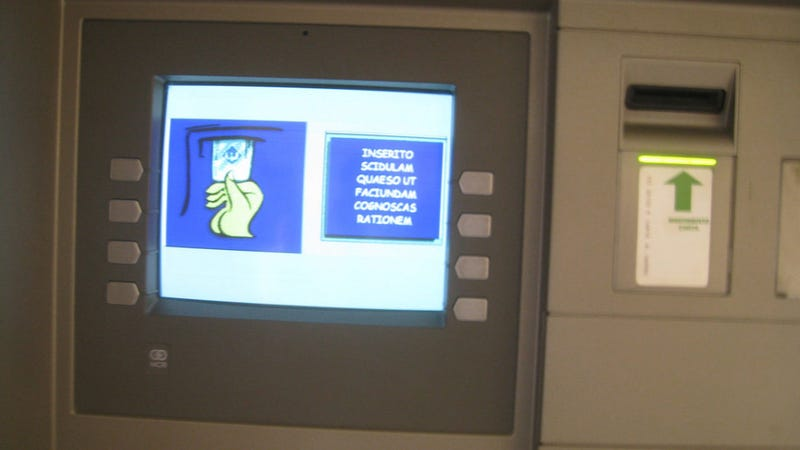 The ATMs in Vatican City Speak Latin