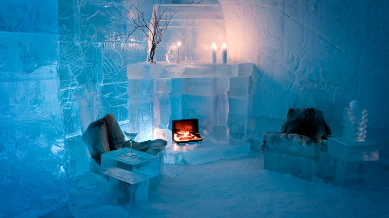 13 Ridiculously Cool Buildings Made of Ice