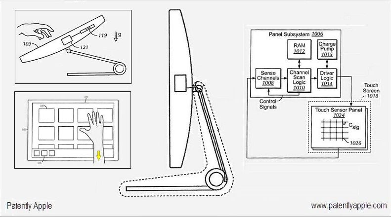 iMac Touch Interface Shown Off In Apple Patent