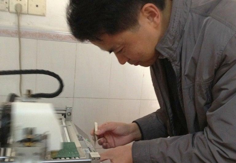 El chino que construyó una fábrica en su casa