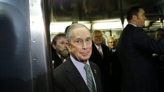 Michael Bloomberg Takes The Train to Nowhere