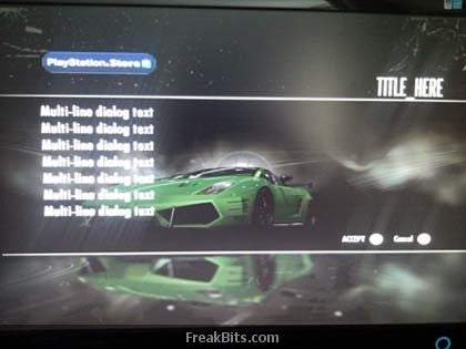 NFS: Shift Crashes at PlayStation Store Screen — on a 360