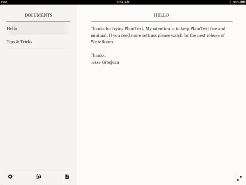 PlainText Is a Simple iOS Text Editor that Syncs with Dropbox