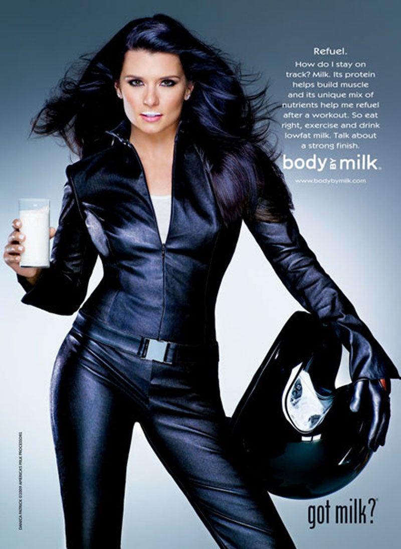 Milk-Mustachioed Danica Patrick Helps Promote Strong Bones