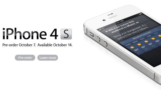 iPhone 4S Pre-Orders Are Live