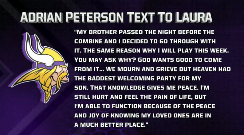Here's Why Adrian Peterson Is Playing This Week, In His Own Words
