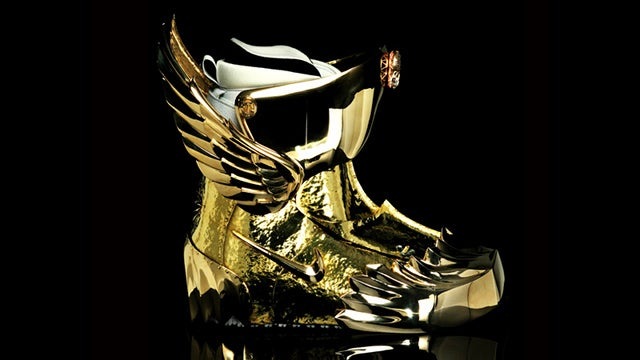 You Won't Believe How Complicated It Is to Encase a Snowboard Boot in Gold