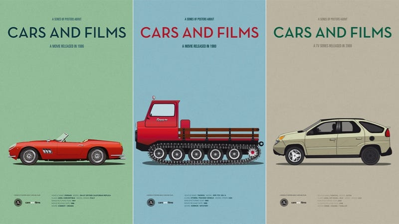 These Posters Immortalize the Cars From Your Favorite Films