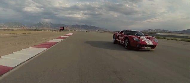 Ken Block And Ryan Tuerck Drift A Ford GT