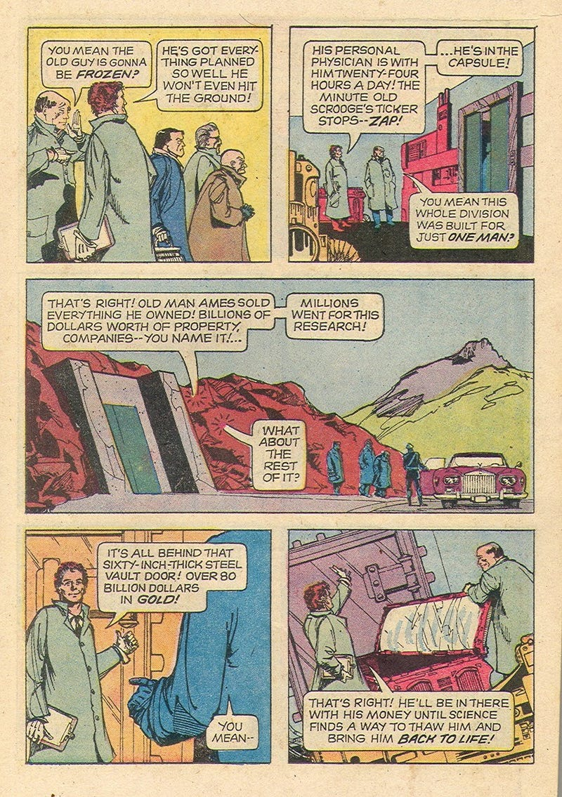 Old Twilight Zone comic demonstrates why cryonic life expansion is a dumb idea