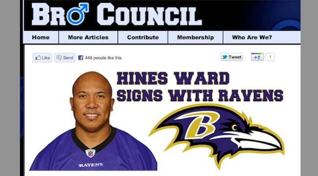 Hines Ward Signs With Ravens, Reports Pittsburgh TV Station That Fell For Obvious Parody