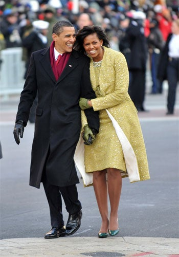 Bow Down: Michelle Obama Inaugural Outfit Hits The Streets