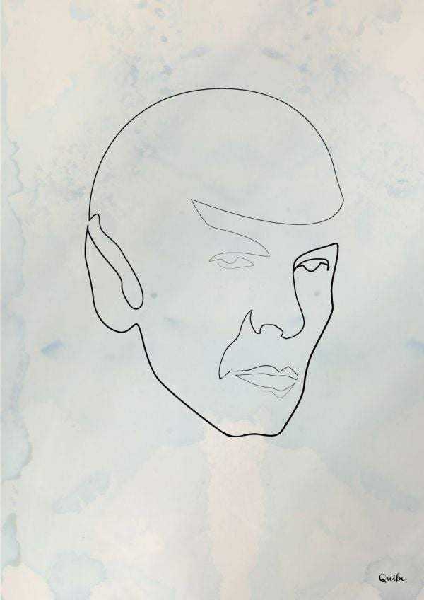 These one line sci-fi portraits are simply stunning