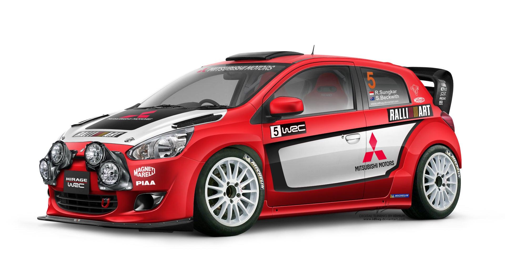 Who fancies a Mitsubishi Mirage WRC Ralliart?