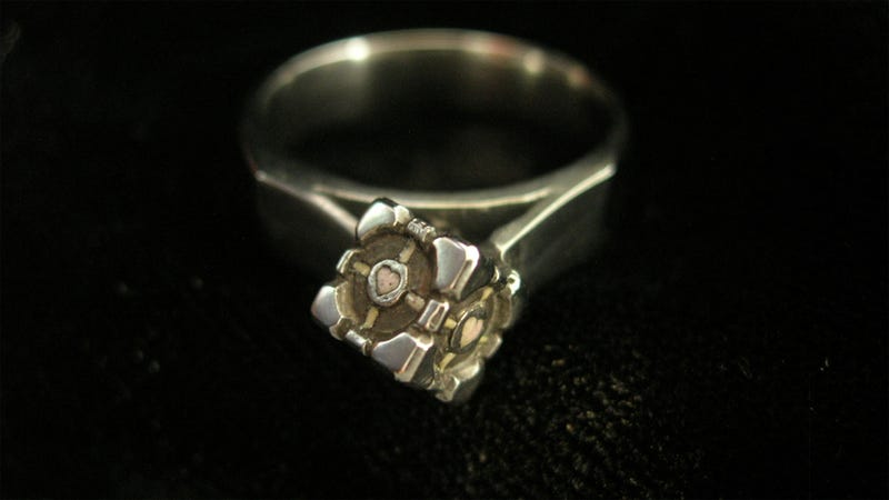 Why Propose With a Diamond When You Could Propose With Portal's Companion Cube?
