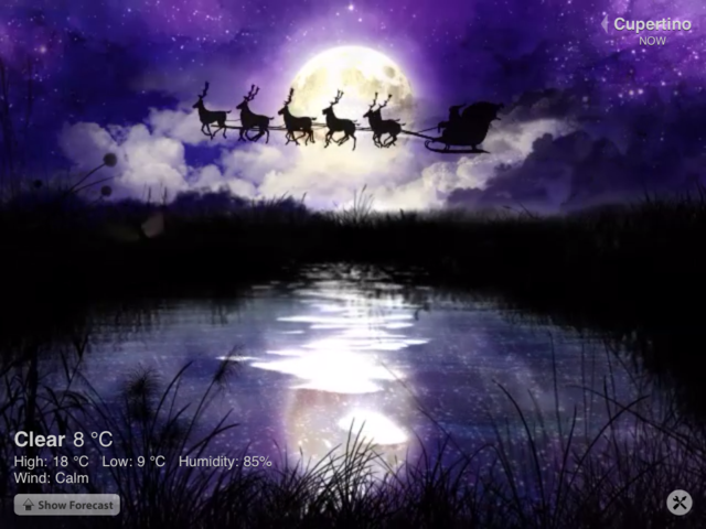 Weather HD Gets In The Christmas Spirit, Graphically Speaking