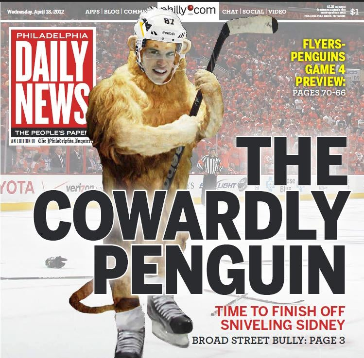 Philadelphia Daily News Puts 'The Cowardly Penguin' On Its Cover