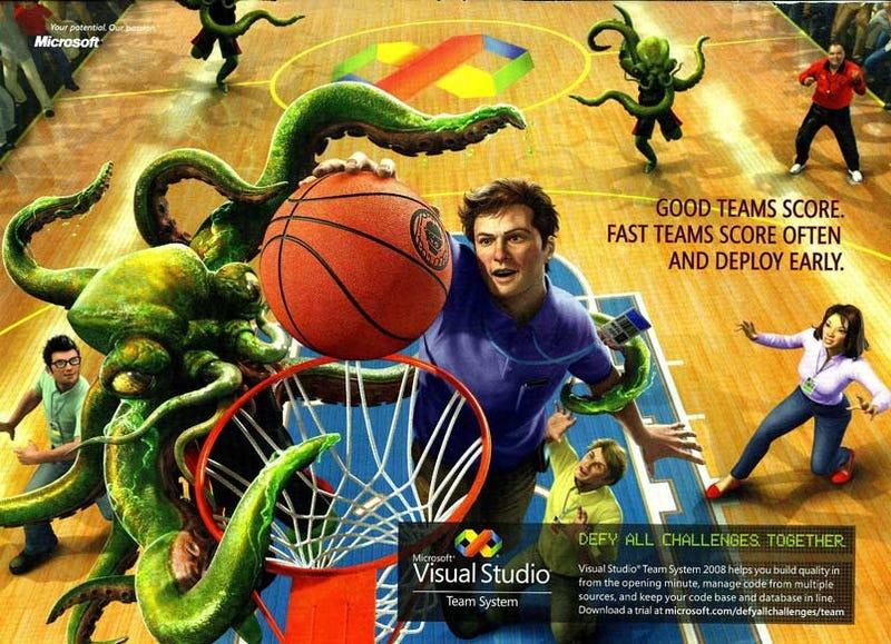 Microsoft Plays MONSTER BALL!!!