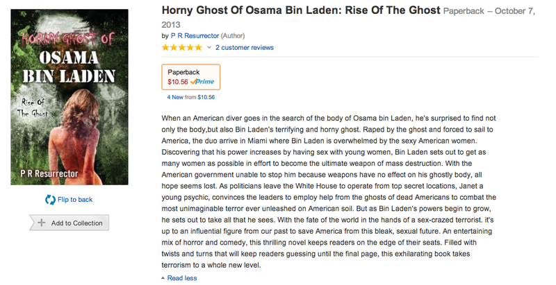Horny Ghost Of Osama Bin Laden Is the Book of the Year