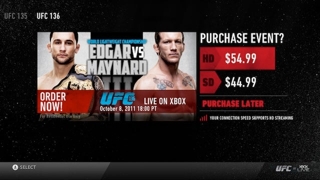 UFC Pay-Per-View Launching on Xbox Live in December