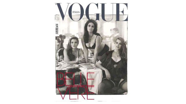 Not One, Not Two, But Three Plus-Size Models Land Cover Of Italian Vogue