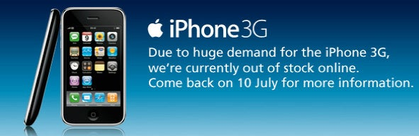 iPhone 3G Pre-Orders Sold Out in the UK in One Morning