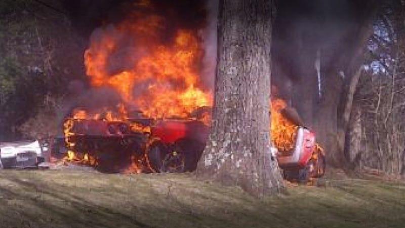 "Man Burns To Death In Horrific Ferrari ""Inferno"""
