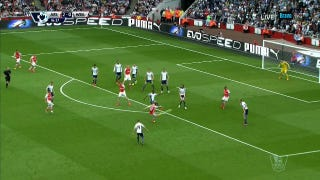 Jack Wilshere Rips Massive Half-Volley From Outside The Box