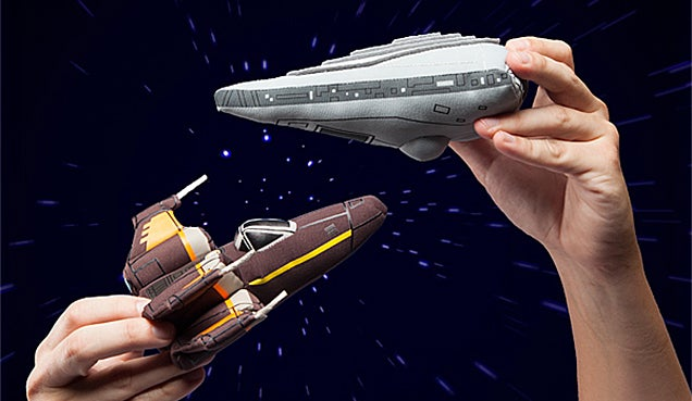Recreate Epic Space Battles in Bed With These Plush Star Wars Ships