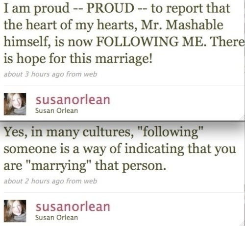 Susan Orlean's Wedding Will Be Twittered